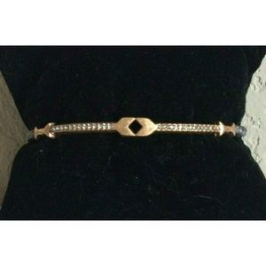 Stella & Dot Women Rose Gold Tone Arrow Bracelet